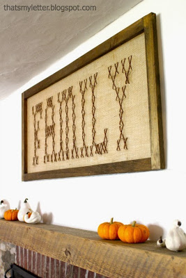 dining room fall mantel