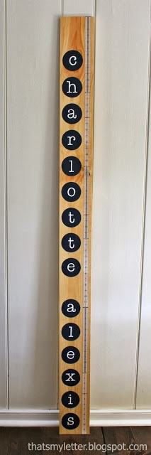 single wood board growth chart