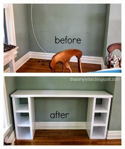 diy homework counter before and after