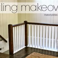 Railing Makeover from Paint to Stain