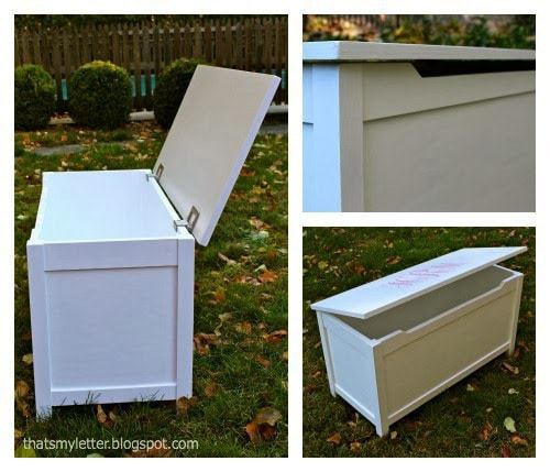 simple toy box with lid details