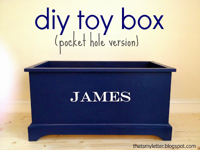 diy open toy box with personalization