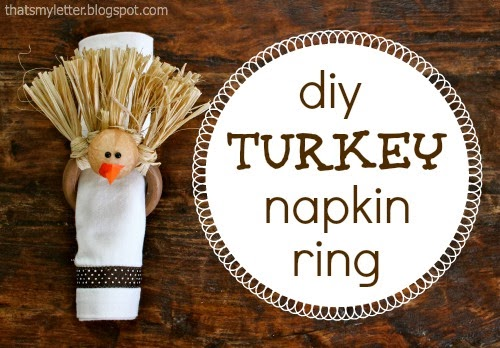 repurposed curtain rings into napkin rings