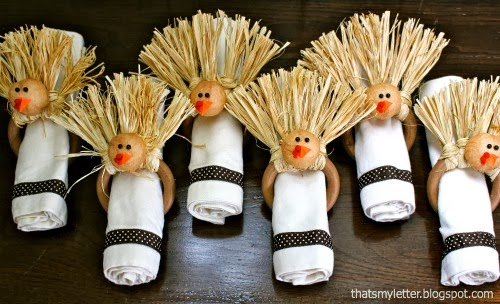 napkin rings for Thanksgiving