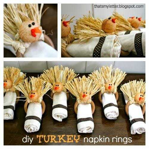 diy turkey napkin rings