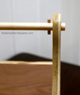 wood handle with dowel pin