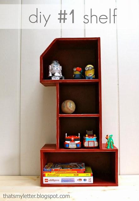 diy number one shelf