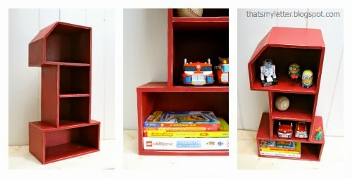 diy number 1 shelf collage