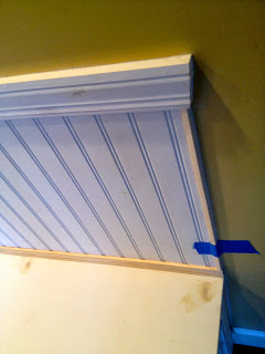 beadboard with trim wall backing