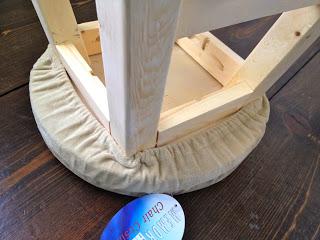 foam cushion cover on stool