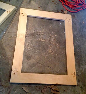 diy wood frame with mitered corners