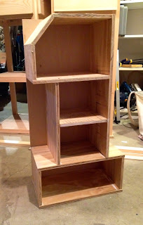 how to build a number 1 shape shelf