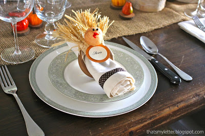 turkey napkin ring project