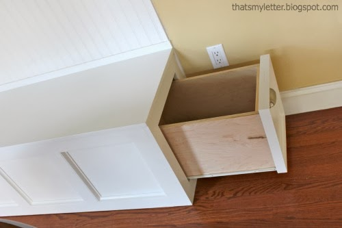 diy kitchen banquette with pull out drawer