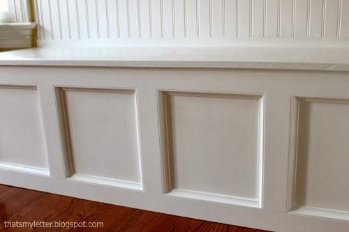 diy kitchen banquette moulding