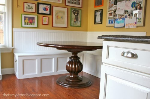 diy kitchen banquette to match island