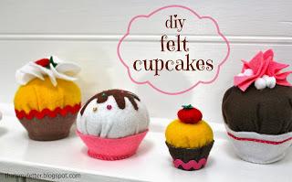 diy felt cupcakes