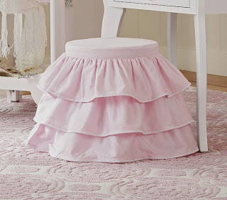 pottery barn kids ruffle stool