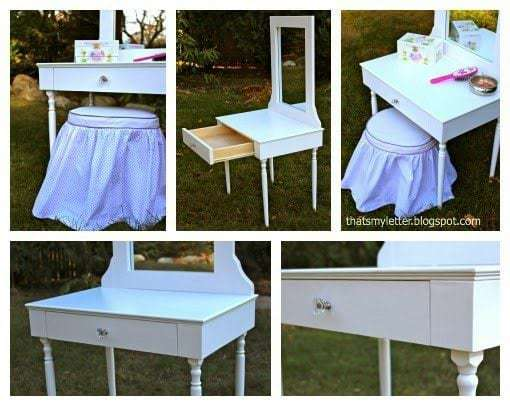 diy kids play vanity details