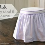 DIY Vanity Stool & Slipcover