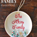 """F"" is for Family Ornament"