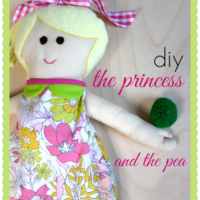"""P"" is for Princess & the Pea (doll, pea & mattresses)"