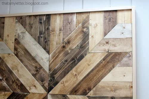 wood wall quilt with multiple stains