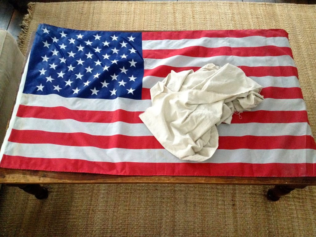 how to sew a neutral American flag