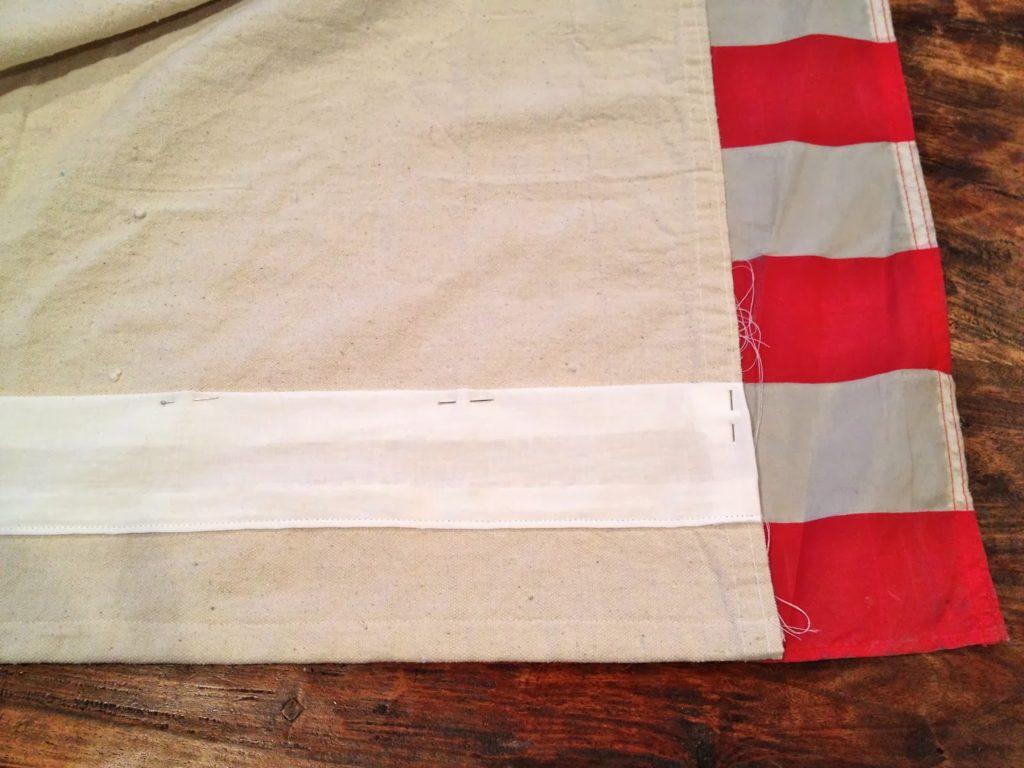 pin white stripe in position