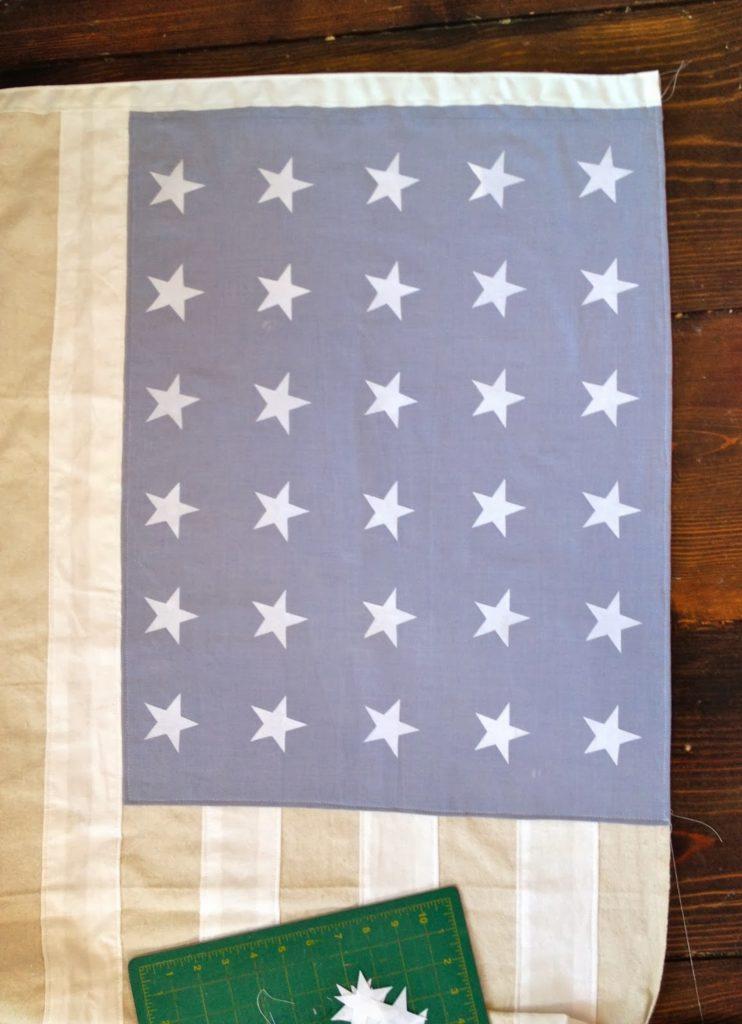 line up stars using ruler