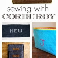 """C"" is for Corduroy Sewing Projects"