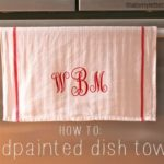 """""""H"""" is for Handpainted Dish Towels"""