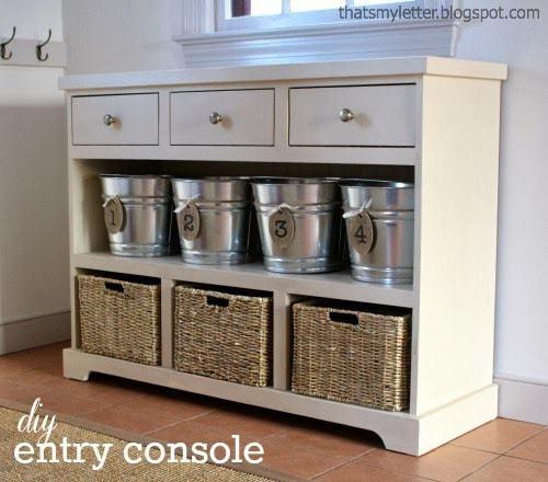 diy entry console