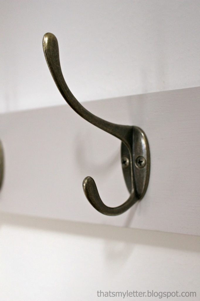 aged bronze double wall hook