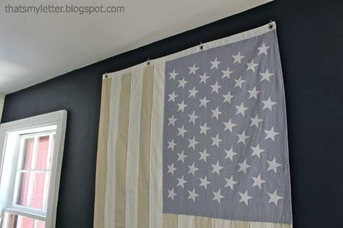 neutral American flag