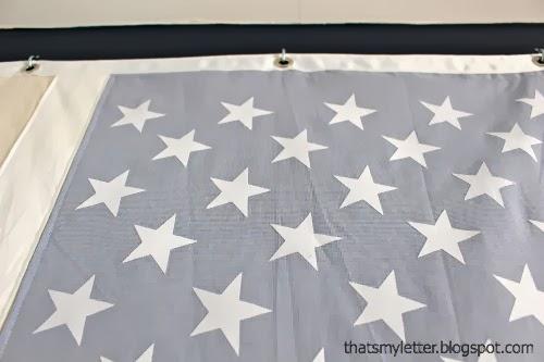 neutral American flag star detail