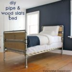 DIY Pipe & Wood Slats Bed