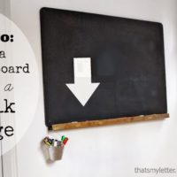 DIY Chalkboard with Ledge