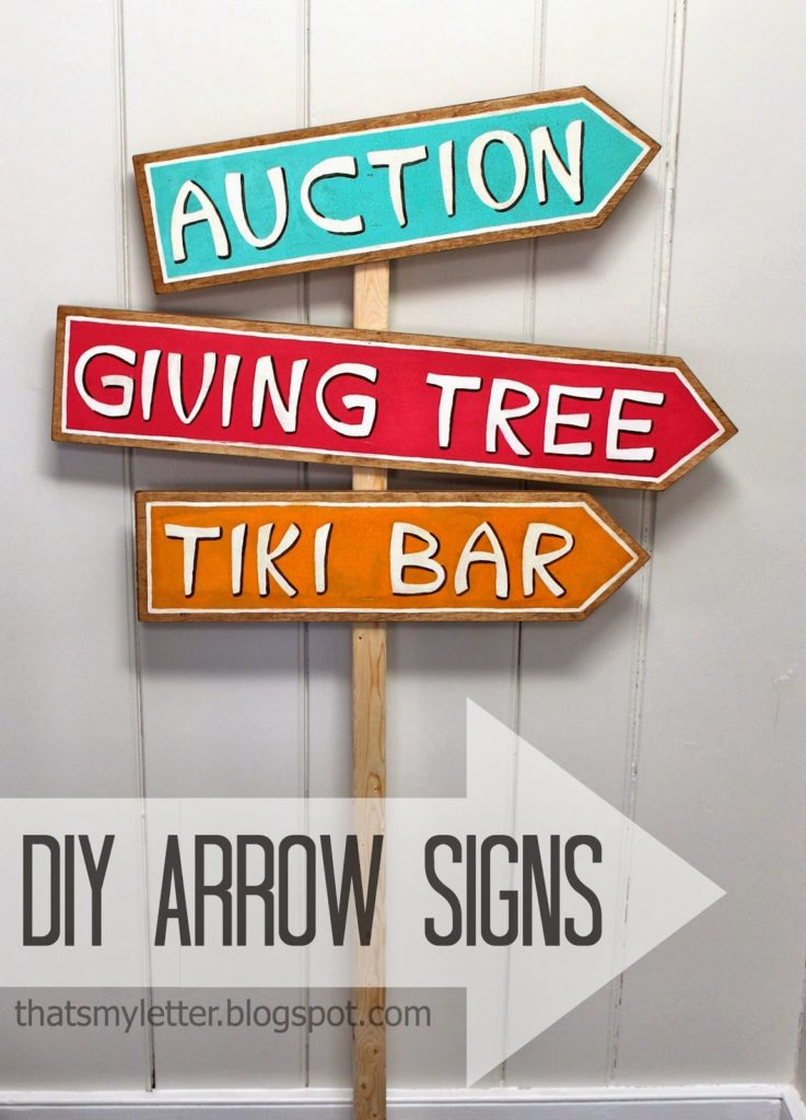 diy arrow shaped signs