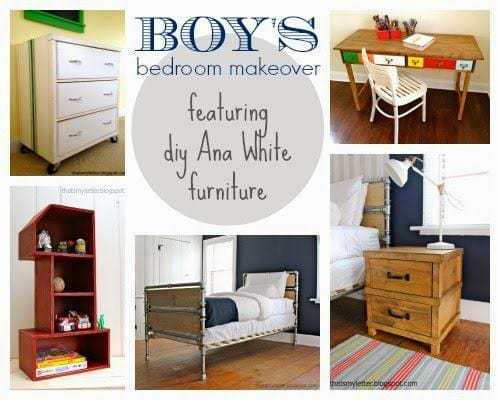 boys bedroom with diy furniture