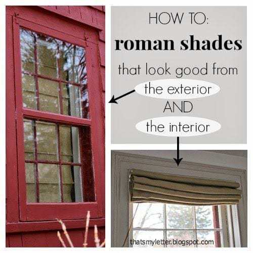how to make self lined roman shades