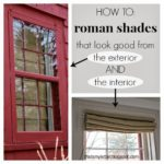 DIY Self Lined Roman Shades