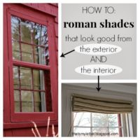 DIY Self Lined Roman Shades