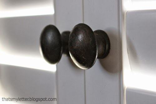 wood knobs on shutters