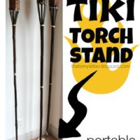diy tiki torch stand