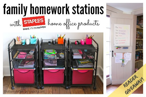F Is For Family Homework Stations Giveaway