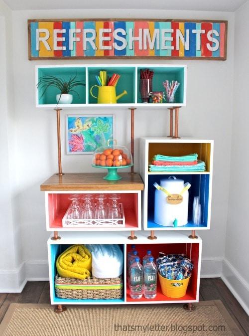 diy family refreshments station