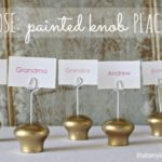 DIY Knob Place Card Holders