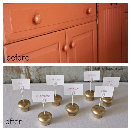 wood knobs before and after