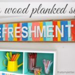 DIY Wood Planked Sign